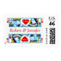 Wedding Invites King And Queen Of Hearts Stamps stamp