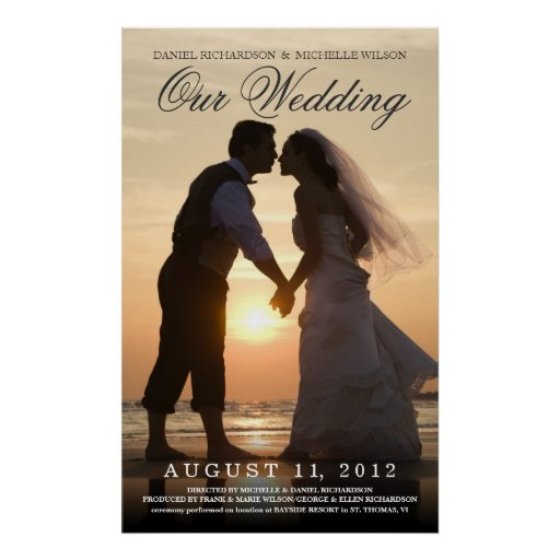 Wedding Photo Movie Poster - Create Your Own