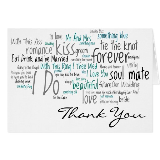 Wedding Thanks Quotes: Wedding Phrases Thank You Cards