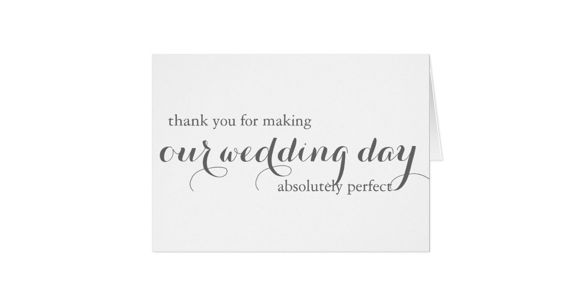 Thank You Note For Wedding Gift Card: Wedding Planner Thank You Card