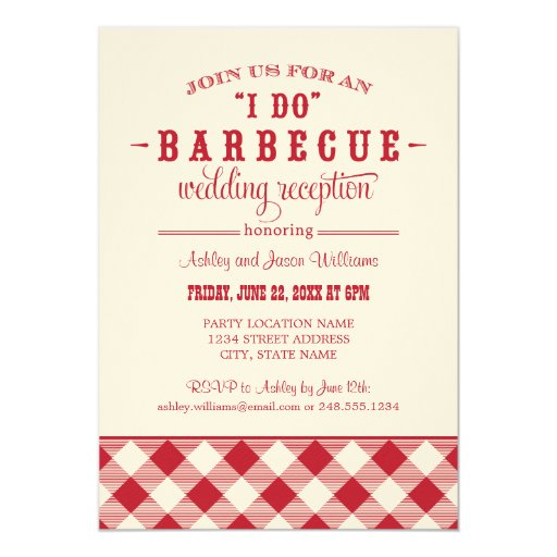 I Do Wedding Invitations: Wedding Reception Invitation