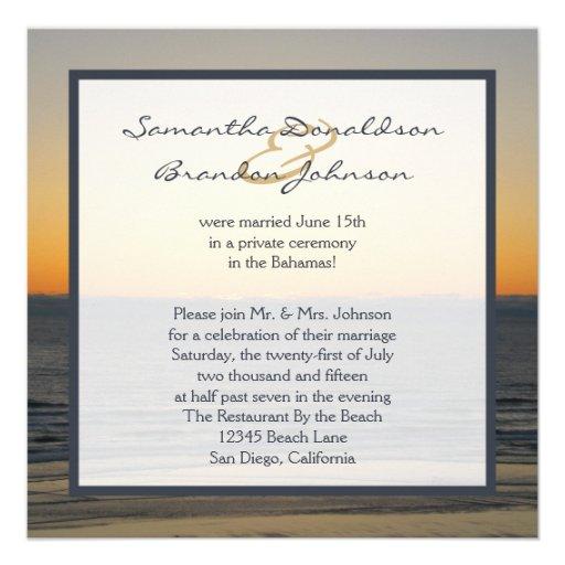 Wedding Reception Invitation Wording Ideas: Reception Invitations Only