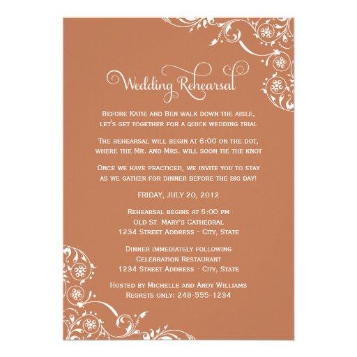 Wedding Rehearsal Invitations: Wedding Rehearsal And Dinner Invitations