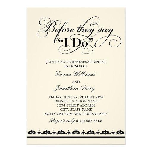 Wedding Rehearsal Invitations
