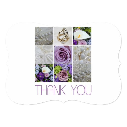 Thank You Letter For Wedding Invitation: Wedding Thank You Note 5x7 Paper Invitation Card