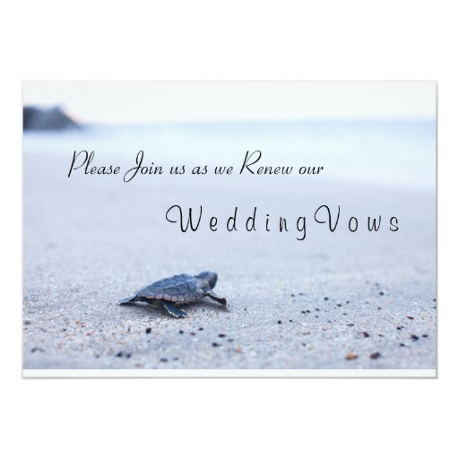 Sea Turtle Wedding Invitations: Wedding Vow Renewal Invitation Sea Turtle