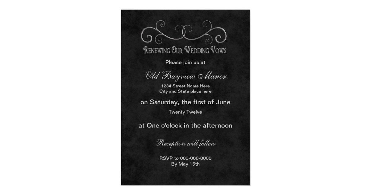 Invitation For Renewal Of Wedding Vows: Wedding Vows Renewal Invitation
