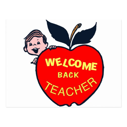 Welcome Back Teacher Postcard