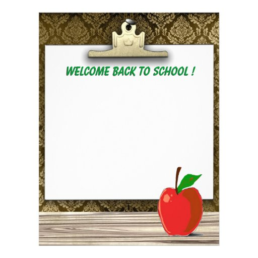 Welcome Back To School Cute Stationery Letterhead