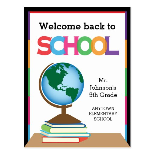 Welcome Back To School, Globe & Books Personalized