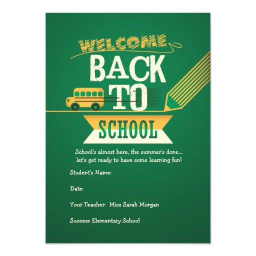 Welcome Back To School Party Invitation