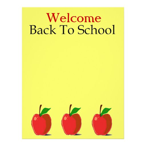 Welcome Back To School Stationery Letterhead