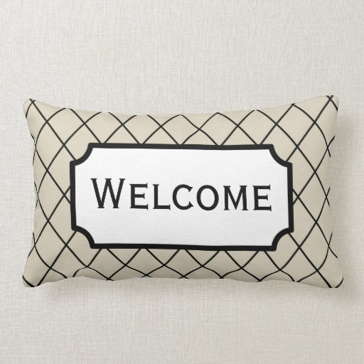 Welcome Home Decor Office Throw Guest Room Pillow