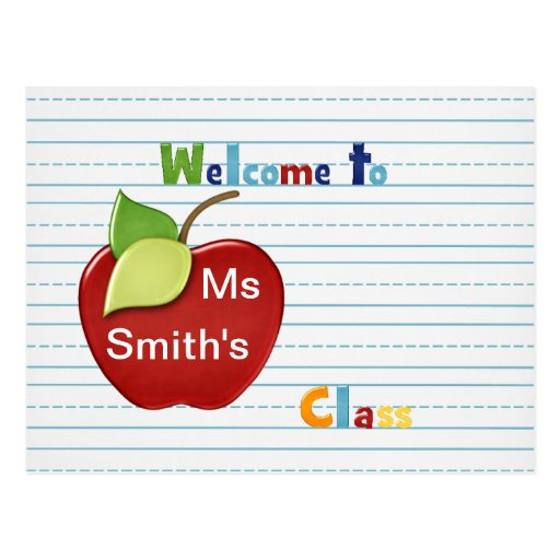 Welcome To Student From Teacher Postcard