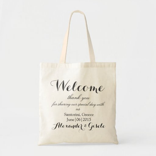 Welcome Wedding Gift Bags: Welcome Wedding Guest Gift Tote Bag