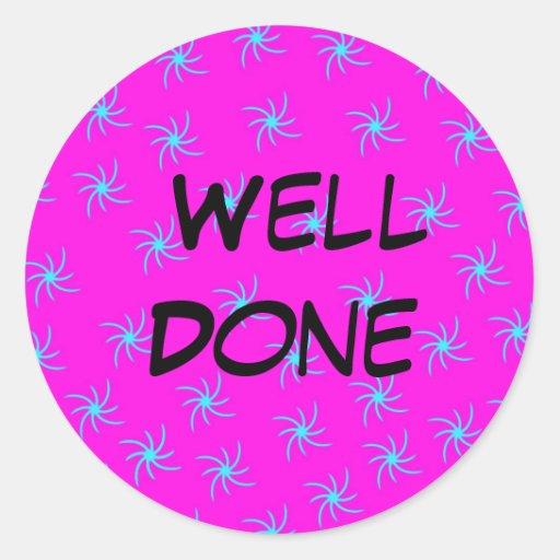 Well done Stickers | Zazzle | 512 x 512 jpeg 53kB