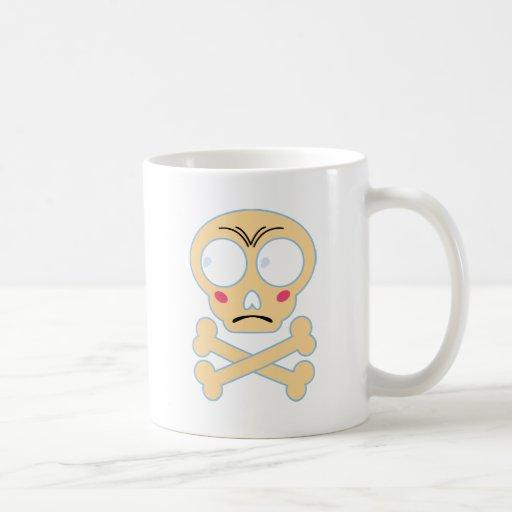 Wellcoda Emoji Fun Skull Bone Scared Head Classic White