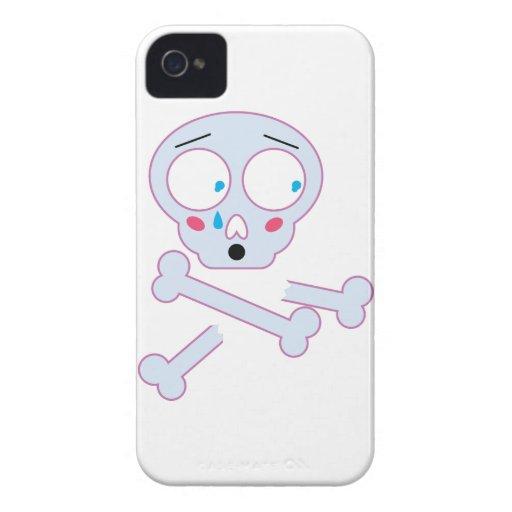 Wellcoda Skull Bone Emoji Fun Scared Head IPhone 4 Covers