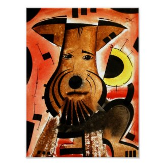 Welsh/ Airedale Terrier Poster