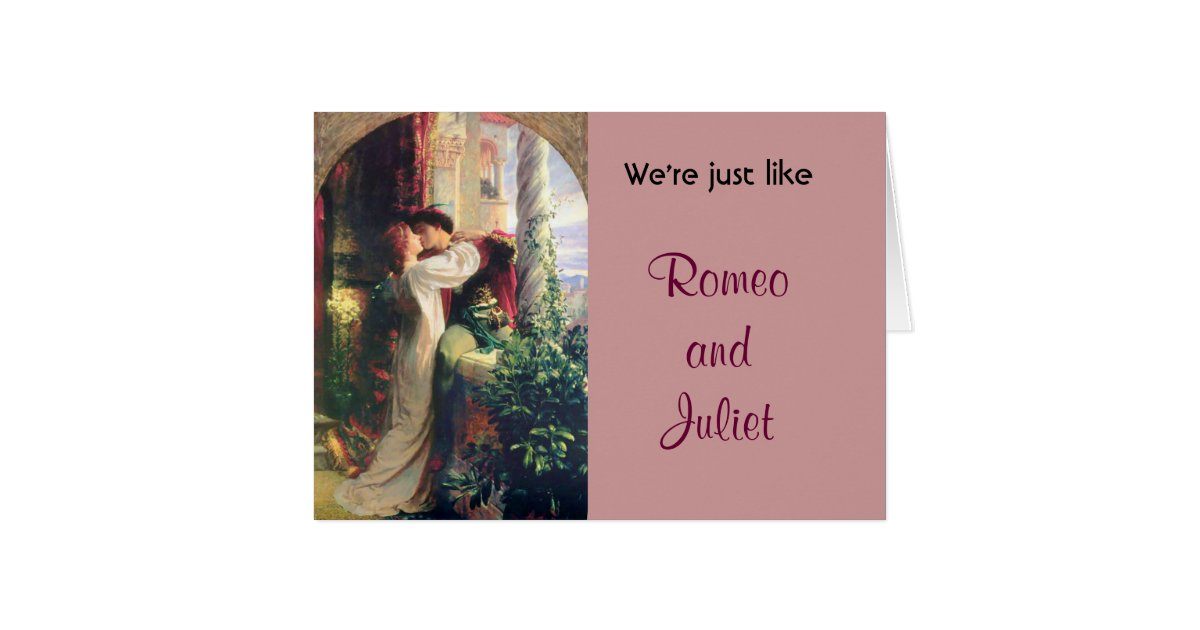 Romeo And Juliet Wedding Invitations: We're Just Like Romeo And Juliet Humor Card Funny