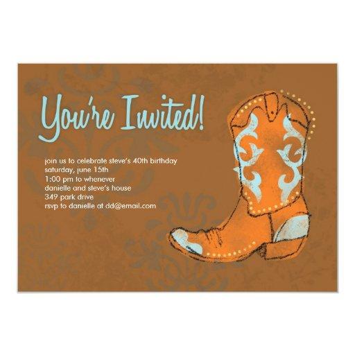 Western Cowboy Boot Invitation Zazzle
