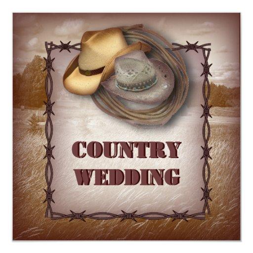 Western Wedding Invitations: Western Cowboy Rustic Country Wedding Invitation