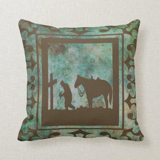 Cowboy Home Decor: Western Home Decor Cowboy Prayer Pillow