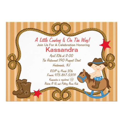 Personalized Western Baby Shower Theme