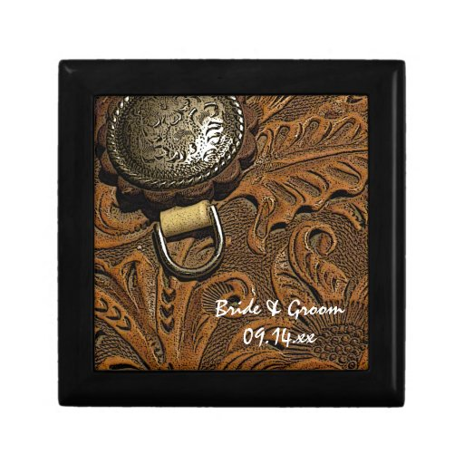 Country Wedding Gift Ideas: Western Saddle Country Wedding Gift Box