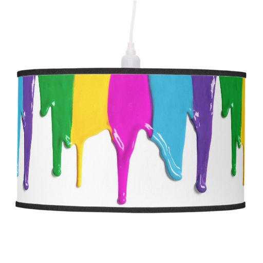 Wet Dripping Paint Hanging Lamps   Zazzle