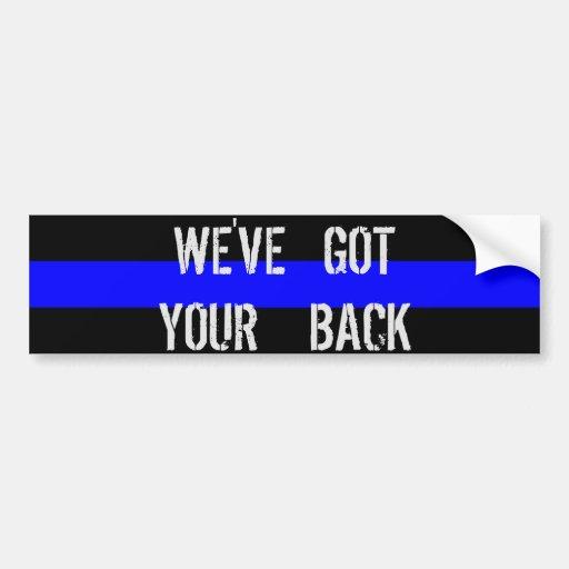 We Ve Got Your Back Bumper Sticker Zazzle