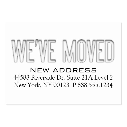 we have moved cards templates - we 39 ve moved address change notification label large