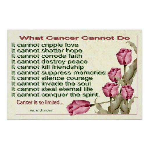 What Cancer Cannot Do Print