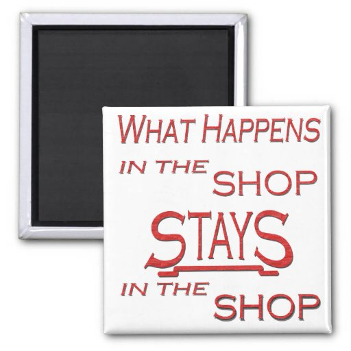 what happens at the shop 2 inch square magnet zazzle. Black Bedroom Furniture Sets. Home Design Ideas