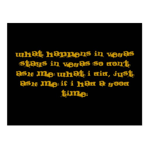 WHAT HAPPENS IN VEGAS STAYS IN VEGAS SO DON'T A ... What Happens In Vegas Logo