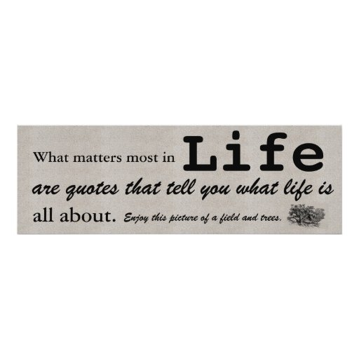 What Really Matters In Life Quotes: What Matters Most In Life Are Quotes That Tell You Poster