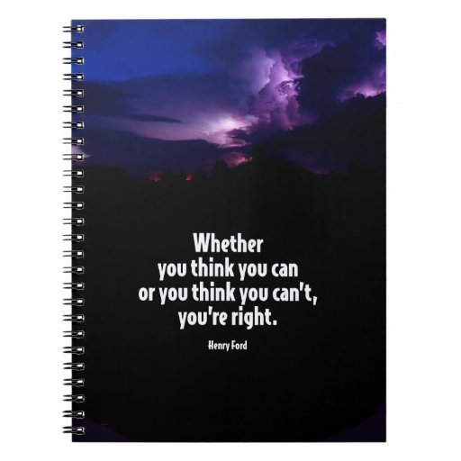 Quote Whether You Think You Can: Whether You Think You Can Motivational Quote Spiral