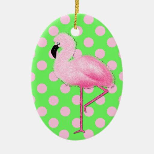 Flamingo Christmas Decorations: Whimsical Pink Flamingo Christmas Ornament