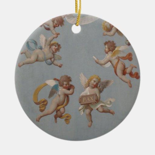 Whimsical Renaissance Cherub Angels Christmas Ornaments