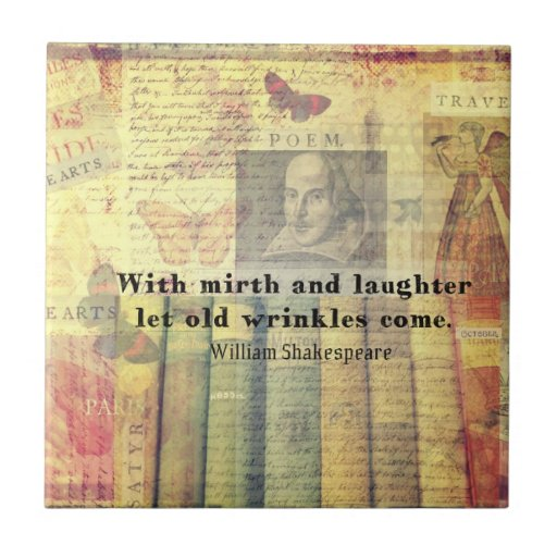 Shakespeare Quotes Happiness: Whimsical Shakespeare Happiness Quote Tiles