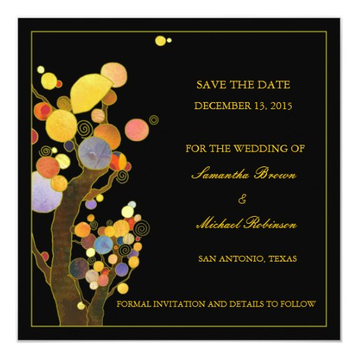 Save The Date Wedding Invitation Ornaments Save The Date: Whimsical Trees Save The Date Wedding Invitations