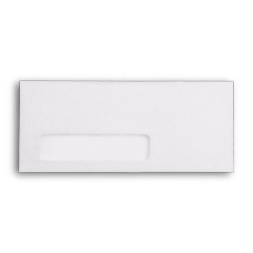 White 9 envelope template with window zazzle for Standard window envelope template