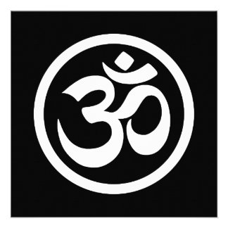White and Black Yoga Om Circle Personalized AnnouncementsYoga Images Black And White