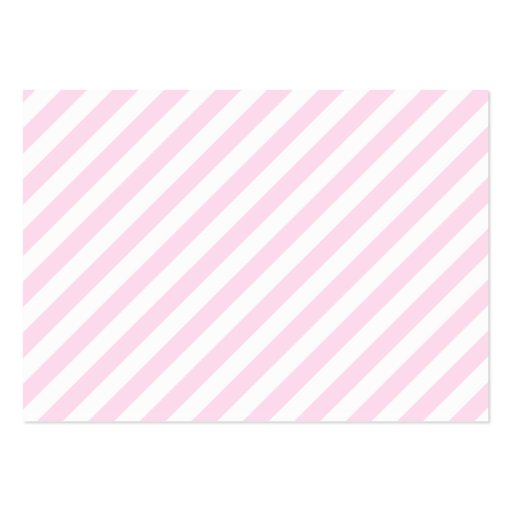 White and Light Pink Stripes. Large Business Cards (Pack ...