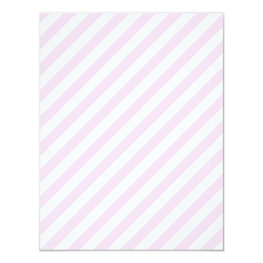 White and Light Pink Stripes. Card | Zazzle