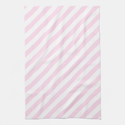 White and Light Pink Stripes. Hand Towels | Zazzle