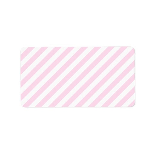 White and Light Pink Stripes. Label | Zazzle