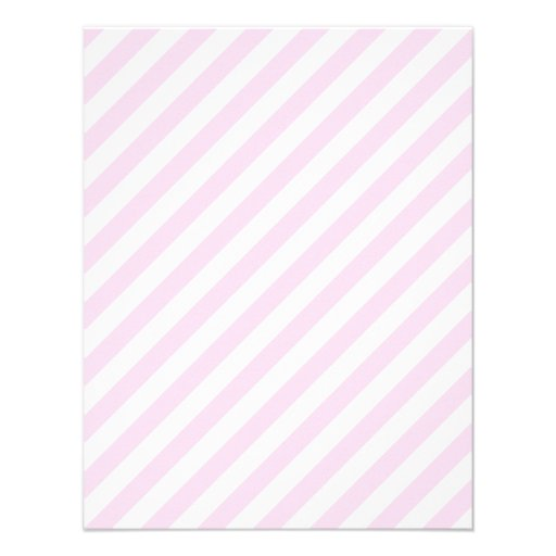 White and Light Pink Stripes. 4.25x5.5 Paper Invitation ...