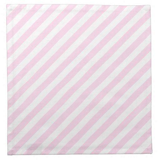 White and Light Pink Stripes. Printed Napkins | Zazzle