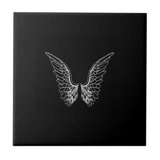 angel wings black background - photo #29